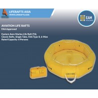 Eastern Aero Marine Life Raft (T6), Classic Rafts, Single Tube, FAA Type II, 6-Man