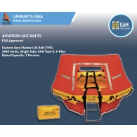 Eastern Aero Marine Life Raft (T9S) ,SAM Series, Single Tube, FAA Type II, 9-Man