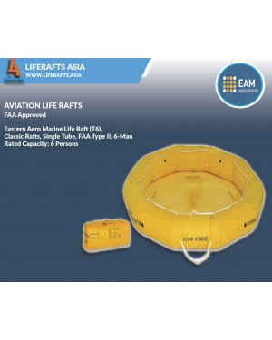 Eastern Aero Marine Life Raft (T9), Classic Raft, Single Tube, FAA Type II, 9-Man