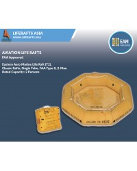 Eastern Aero Marine Life Raft (T2) ,Classic Rafts, Single Tube, FAA Type II, 2-Man