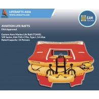 Eastern Aero Marine Life Raft (T12AS) ,VIP Series, FAA TSO-C70a, Type I, 12-Man