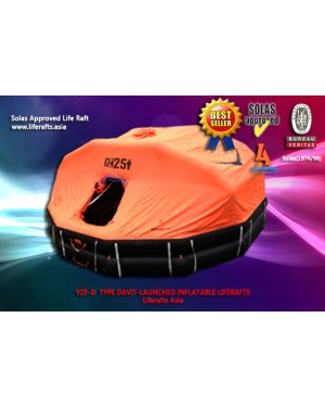 20 PERSON DAVIT LAUNCHED LIFE RAFT