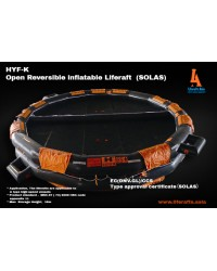 Open Reversible Liferaft 50 Person (SOLAS)