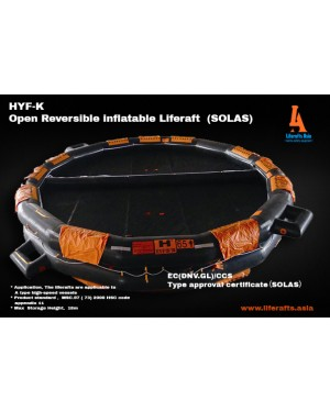Open Reversible Liferaft 25 Person (SOLAS)