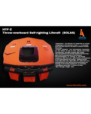 THROW-OVER SELF RIGHTING LIFERAFT SOLAS 10 PERSON