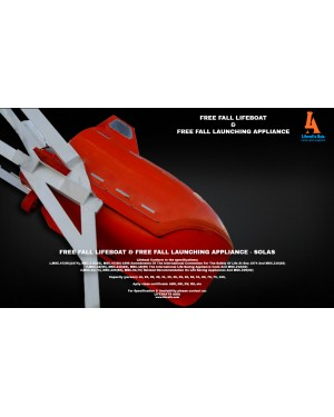 FREE FALL LIFEBOAT 20 PERSON - FIRE PROTECTED TYPE SOLAS