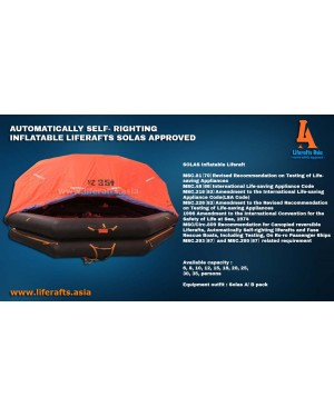 125 PERSON AUTOMATIC SELF- RIGHTING INFLATABLE LIFERAFTS