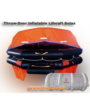 12 PERSON LIFERAFT SOLAS THROW-OVER