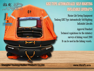 Youlong Liferafts KHZ-15 Type Automatically Self-Righting Inflatable Liferafts