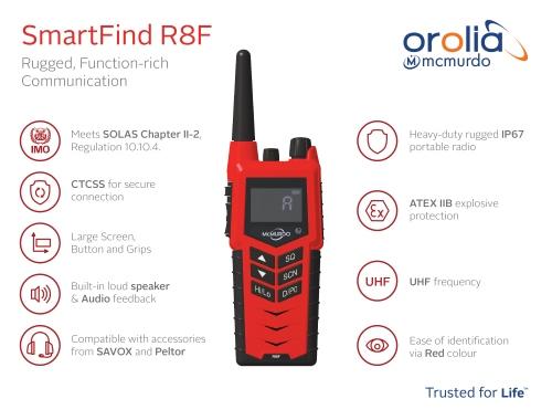 Mcmurdo SmartFind R8F UHF FireFighter Radio